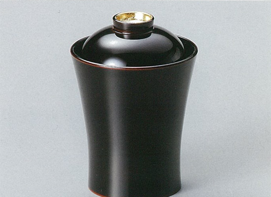 【越前漆器】箔鼓 小吸物椀 溜 5客セット /お吸物・お味噌汁・漆器・蓋付・セット・贈り物・来客用・お正月用品・おもてなし