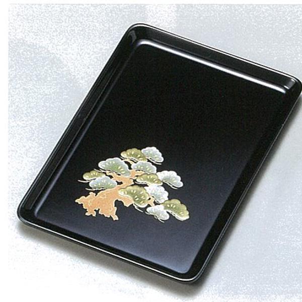【越前漆器】観世松 9.0祝儀盆(切手盆・進物盆)●名入れなし