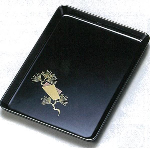【越前漆器】色紙老松 9.0進物盆(切手盆・祝儀盆) ●名入れなし