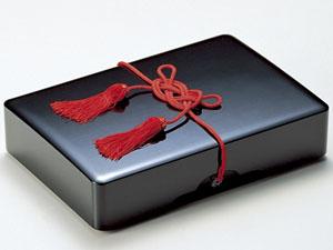 【越前漆器】 免状箱 内和紙張 黒