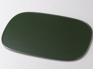 【越前漆器】渕付小判平膳 緑
