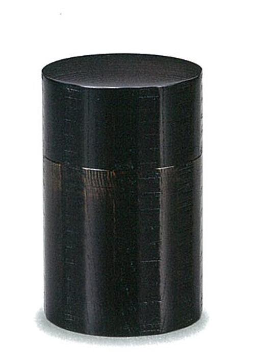 【木製漆器】茶筒 欅 のこ目 小/漆器・おもてなし・茶道具・お茶会