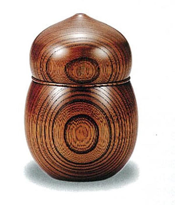 【木製漆器】欅 茶入 ひょうたん(容量80g)/漆器・おもてなし・茶道具・お茶会
