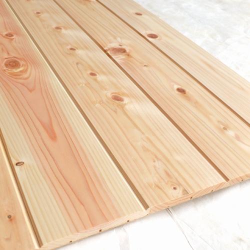 壁材 パネル 無垢 檜 節有ヨロイカブトはれるんです壁用「プレーン」(455mm角16枚/1坪分)国産 桧 腰板 腰壁 天井 板 ヒノキ ひのき 無塗装