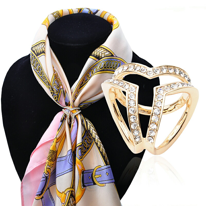Image result for brooch on ends of scarf