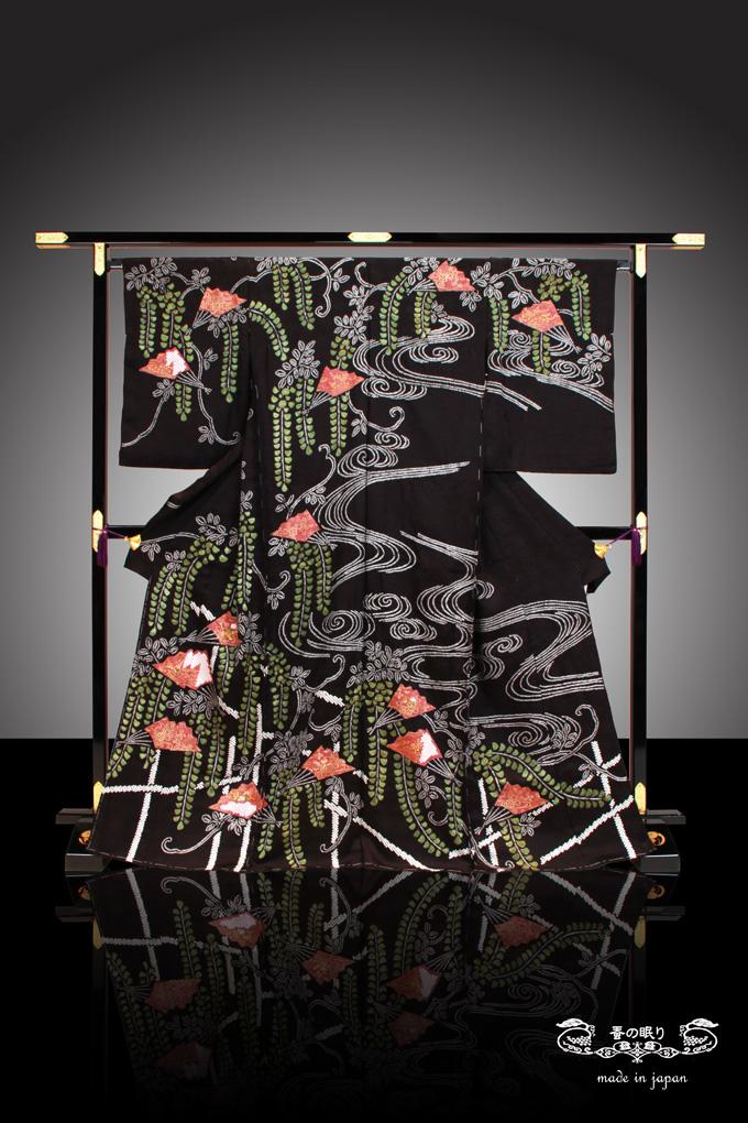 訪問着 ほうもんぎ   京都老舗 千切屋謹製   絞り 訪問着