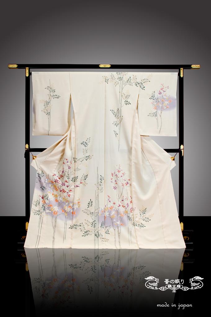 訪問着 ほうもんぎ   京都老舗 千切屋 謹製 友禅   絹