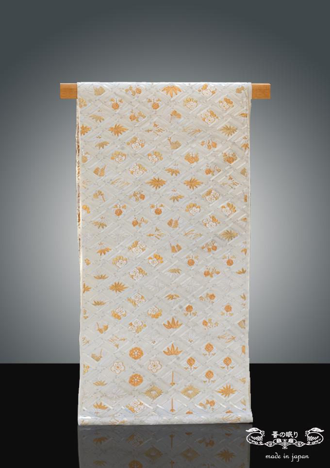 袋帯 ふくろおび | おび弘 手刺繍 菱天井 菊桐紋