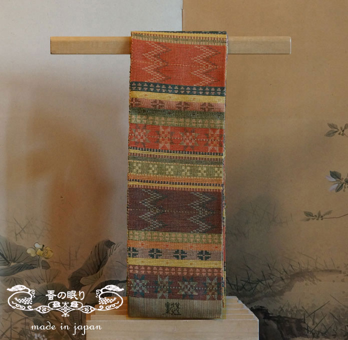 [織悦]半巾織 スエーデン段織山道