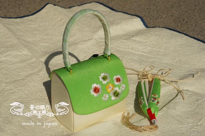 刺繍エナメルバック+草履セット