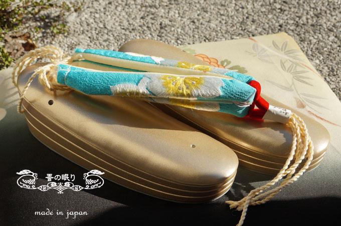 草履 ぞうり 花緒セット   正装用 金台 組紐 3段 Lサイズ