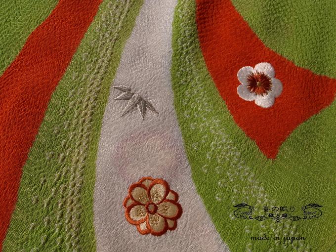 【蚕の眠りオリジナル】刺繍ちりめん 帯揚