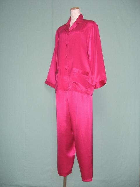 【あす楽】【送料無料】シルクパジャマ長袖【ローズピンク】シルク100%パジャマ大きいサイズ XL・XXL・XXXL《ブランド嬌奴》67種色柄S~XXXL取り揃え《ブランド嬌奴》の商品については、製造中止により在庫限りになりました。