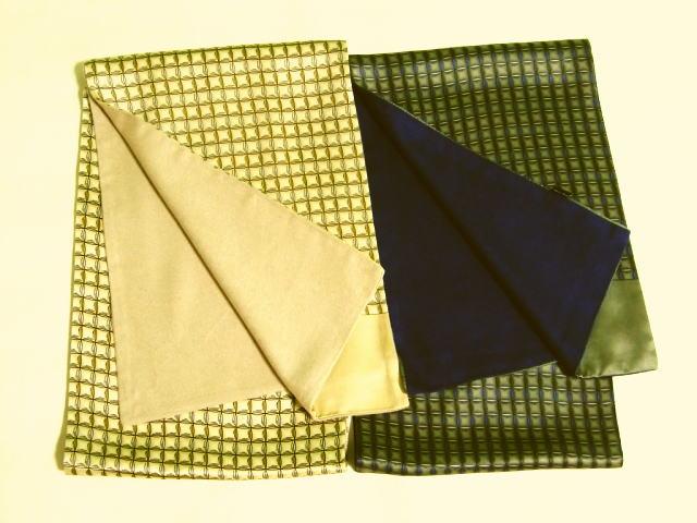 新入荷!!シルクスカーフ紳士用二枚合わせ【2色】贅沢なシルクの光沢とふわっと暖かさお洒落がきわだつスカーフ♪