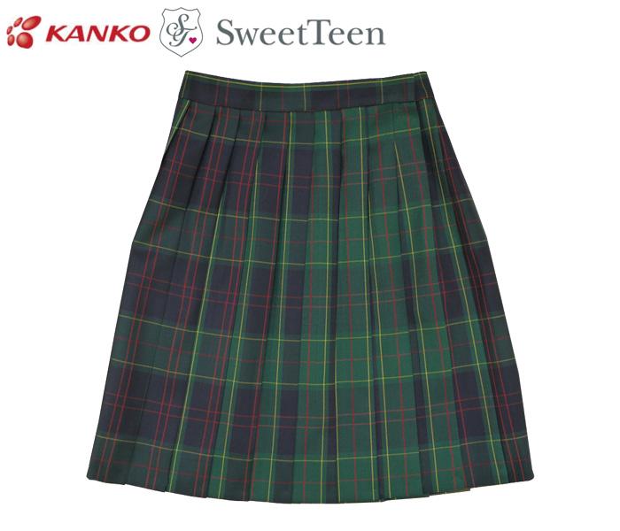 kanko カンコー学生服 SweetTeen ST2000-11 スウィートティーン チェック柄 スクールスカート / GREEN