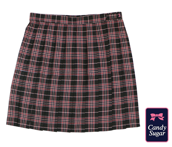 Candy Sugar [キャンディーシュガー] チェックスクールスカート/ 赤 / RED
