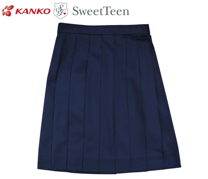 カンコー学生服 Sweet Teen[スウィートティーン] 無地 スクールスカート / NAVY