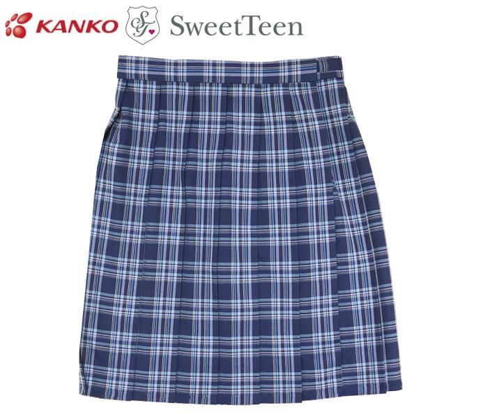 カンコー学生服 Sweet Teen[スウィートティーン] チェック スクールスカート / BLUE