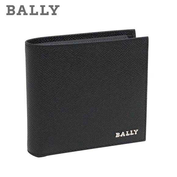 バリー 折り財布 ブラック LETTERING LYIE 0 6174944