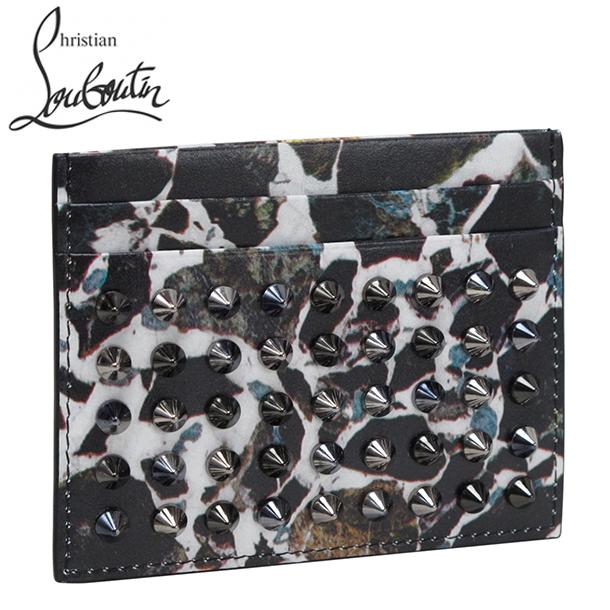 クリスチャン ルブタン カードケース/パスケース ブラック×ホワイトマルチ×ブラック 1165165 M427