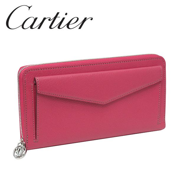 新品 ラッピング無料 長財布 Cartier  カルティエ 長財布 ピンク(フューシャ) コレクション レ マスト L3001355