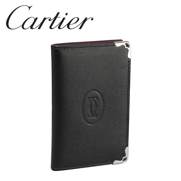新品 ラッピング無料 カードケース Cartier ギフト カルティエ パスケース ブラック ☆送料無料☆ 当日発送可能 L3001370 ボルドー ドゥ マスト