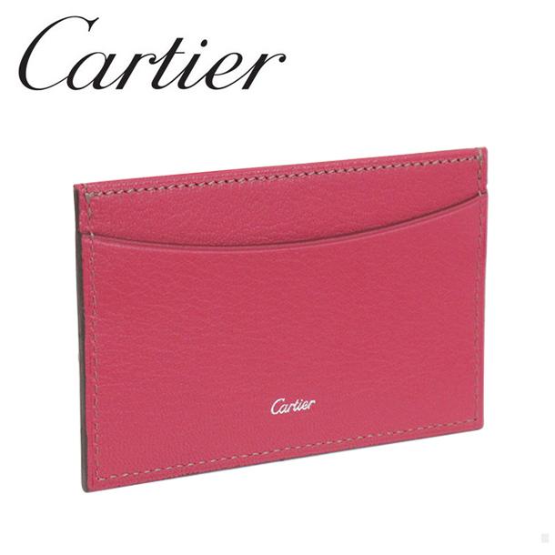 新品 定期入れ 格安店 カルティエ 大幅値下げランキング ブランド Cartier カードケース ピンク パスケース L3001473 コレクション マスト レ