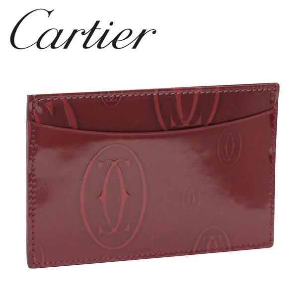 カルティエ カードケース/パスケース ボルドー ハッピーバースデー L3001476