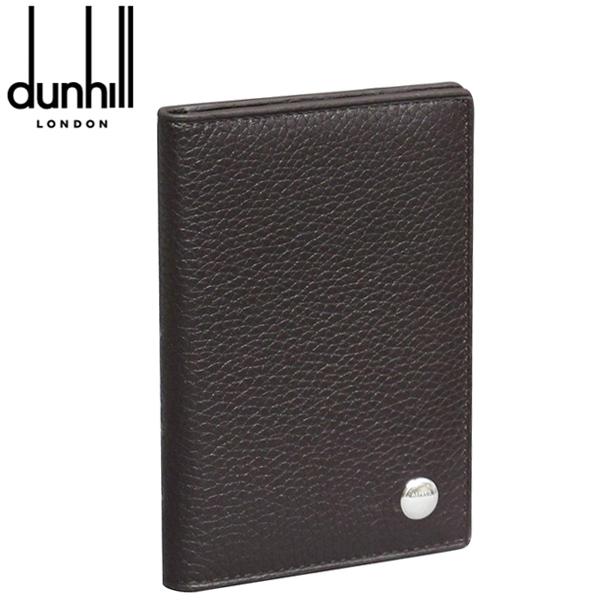 ダンヒル カードケース/パスケース ダークブラウン ボストン L2W347B