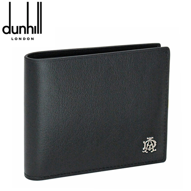 ダンヒル 折り財布 ブラック リーブス L2XR32A