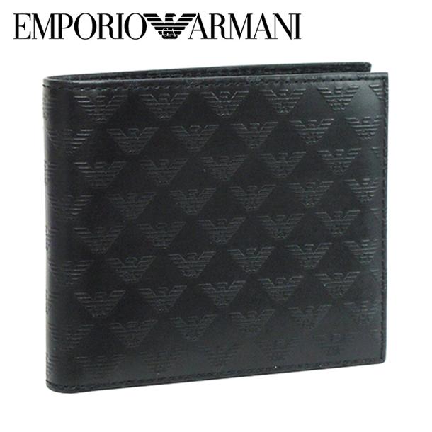 エンポリオアルマーニ 折り財布 ブラック YEM122 YC043 80001