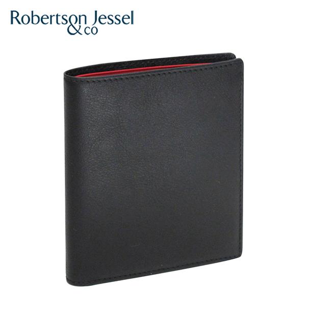 ロバートソン ジェッセル 折り財布小銭入れなし ブラック×レッド S11001
