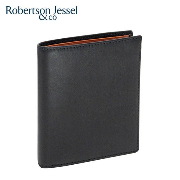 ロバートソン ジェッセル 折り財布小銭入れなし ブラック×スコッチ(ライトブラウン) S11001