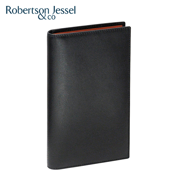 7d9e8fb07716 ロバートソン ジェッセル 長財布小銭入れなし ブラック×スコッチ(ライトブラウン) S11002