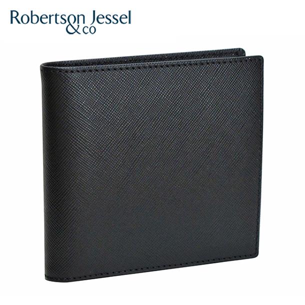 d53d05bf78e3 ロバートソン ジェッセル 折り財布小銭入れなし ブラック S11004-メンズ ...