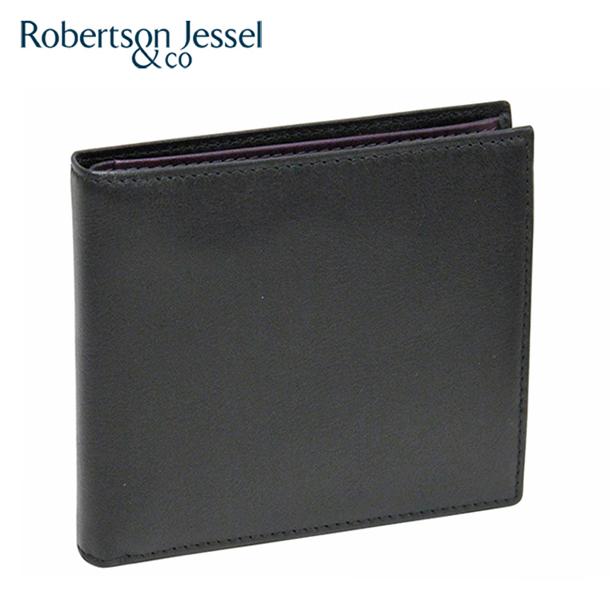 ロバートソン ジェッセル 折り財布 ブラック×パープルS11005