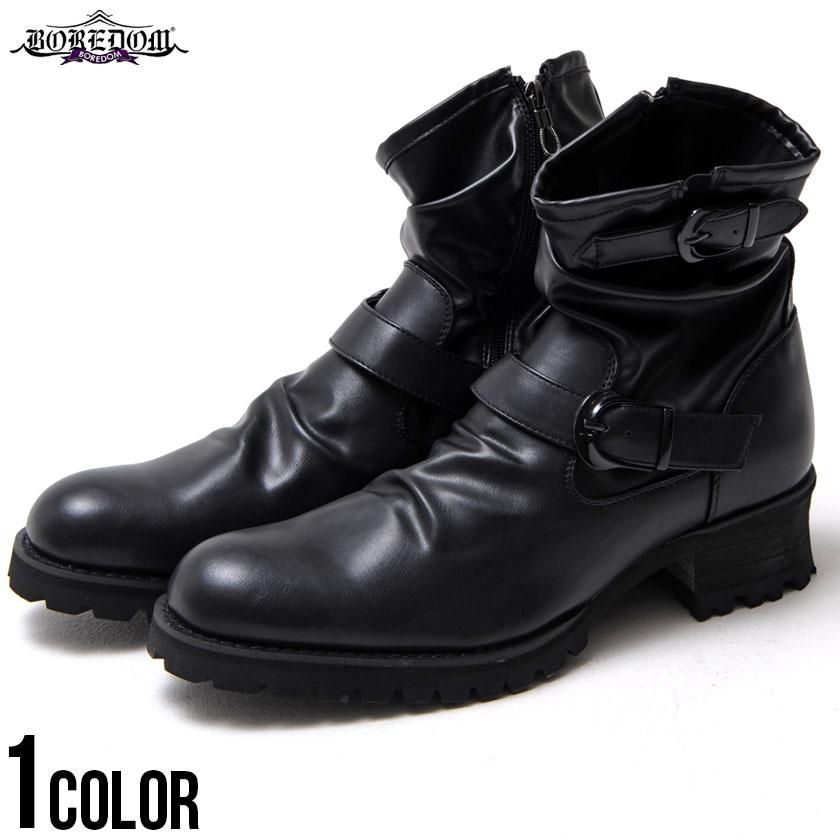 ブーツ メンズ サイドジップ 靴