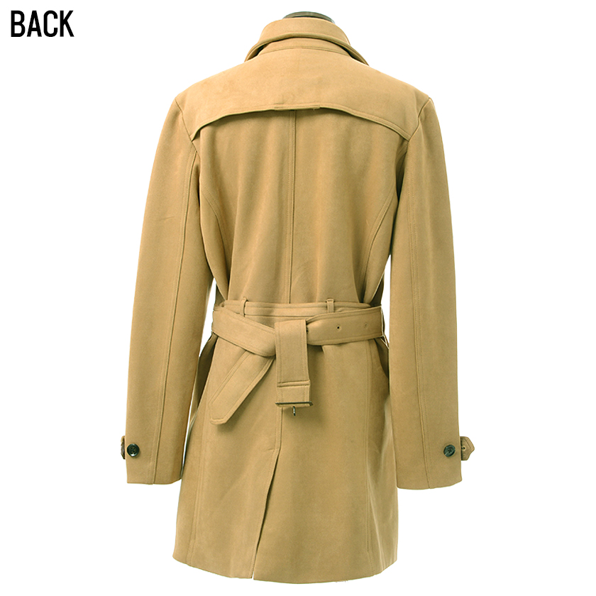 f3ecea181368 ... All trench coat men fake suede cloth outer