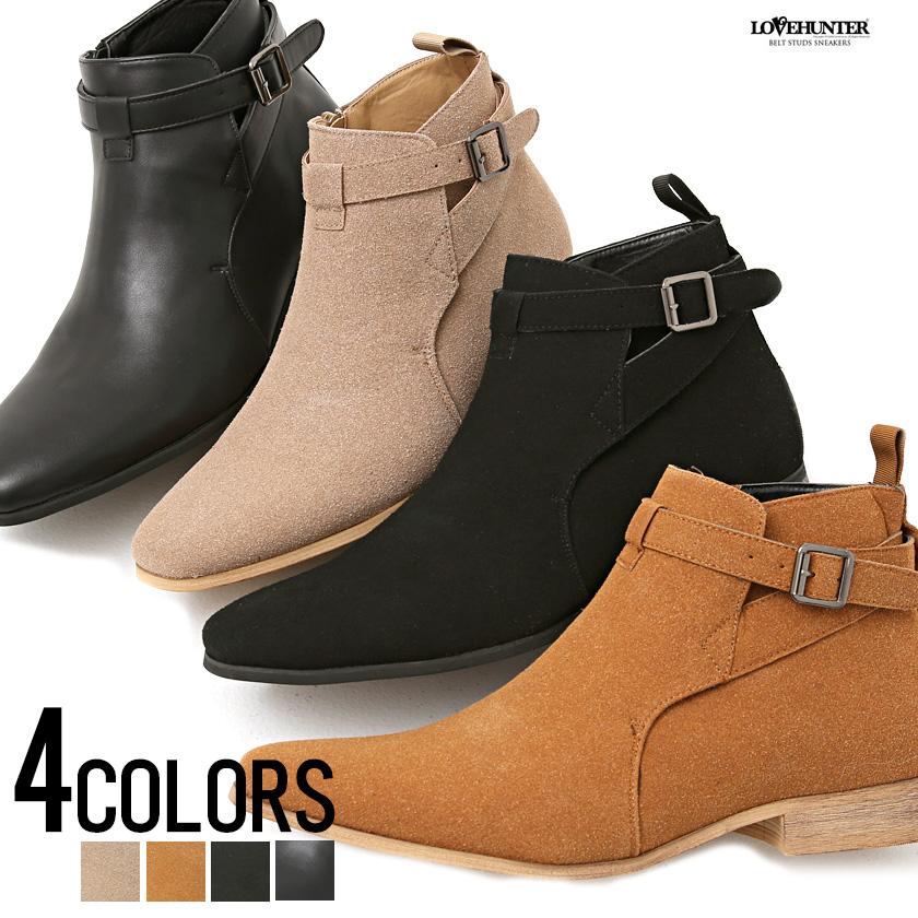 国際ブランド サイドジップ ショートブーツ ベルト ベルトヒール ストラップ メンズ ファッション 高級 メンズ靴 靴 BITTER系