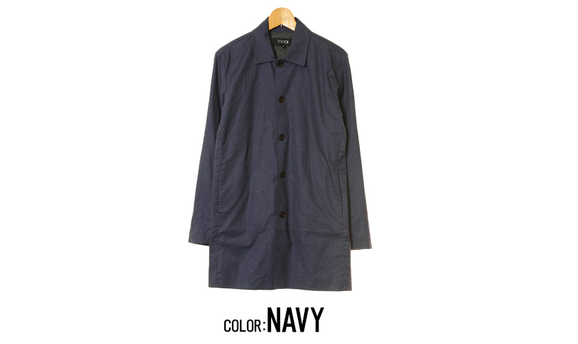 "All three colors of ""VICCI cotton hemp stretch convertible collar coat / """