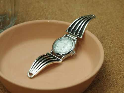 インディアンジュエリー・ナバホ族 Tom Hawk(トム・ホーク)作 Ladies'ブレスウォッチ(腕時計)