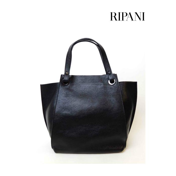 RIPANI(リパーニ) 牛革シュリンク×裏箔加工 ミニポーチ付き 2WAYトートバッグ