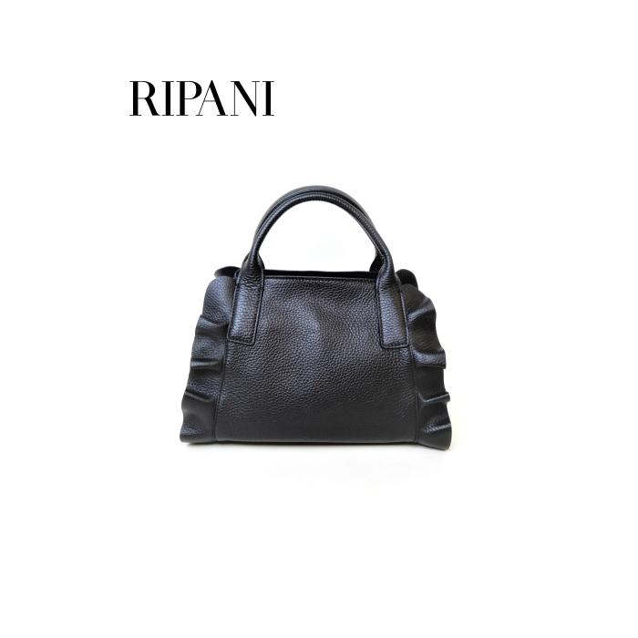 RIPANI(リパーニ)牛革シュリンク フリル2WAYミニハンドバッグ