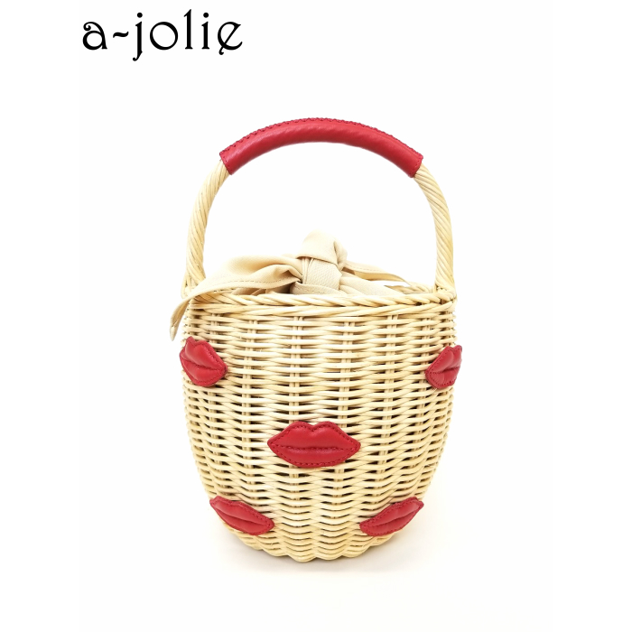 a-jolie(アジョリー) ワンハンドル ラタンかごバッグ