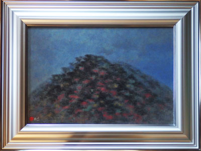 【下保昭】 「深秋」 日本画(紙本・顔彩) 12号 額装 美術 日本画 【・書画肆しみづ】