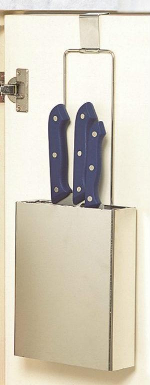 包丁差し 包丁スタンドスマートハング 日本製 18-8ステンレスシンク下収納シンクの扉を使う包丁立て
