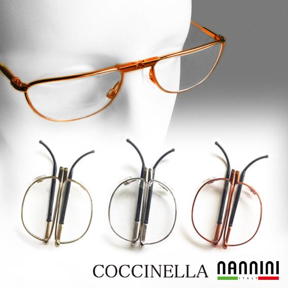 老眼鏡 折りたたみ イタリア製  送料無料 NANNINI 老眼鏡 コッチネーラ オレンジ