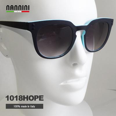 NANNINI サングラス 男性 女性 HOPE 1018 ブラック ブルー