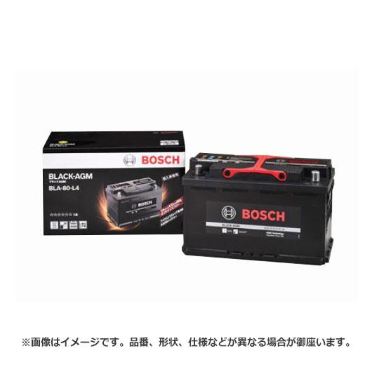 BOSCH ボッシュ BLACK - AGM バッテリー BLA-80-L4 | メンテナンスフリー ロングライフ バッテリー上がり バッテリー交換 始動不良 車 部品 メンテナンス 消耗品
