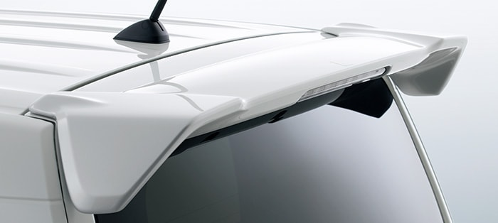 HONDA ホンダ 純正 テールゲートスポイラー N-WGN用 ルナシルバーメタリック 08F02-TKR-020 | honda純正 ホンダ純正 JH3 JH4 NWGN N-WGN テールゲート リア スポイラー ウイング リアウイング ウイングスポイラー 取り付け エアロパーツ 車 外装